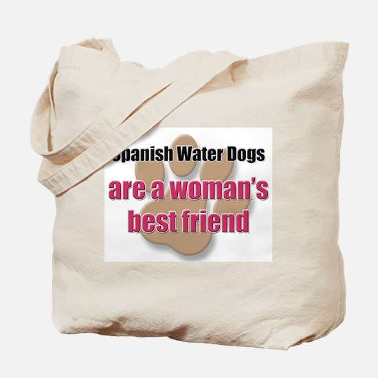 Spanish Water Dogs woman's best friend Tote Bag