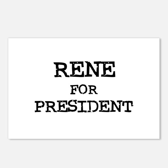 Rene for President Postcards (Package of 8)