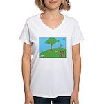 On the Hill Women's V-Neck T-Shirt