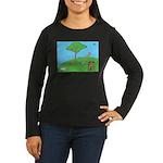 On the Hill Women's Long Sleeve Dark T-Shirt