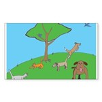 On the Hill Rectangle Sticker 10 pk)