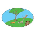 On the Hill Oval Sticker (10 pk)