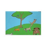 On the Hill Rectangle Magnet (100 pack)