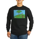 On the Hill Long Sleeve Dark T-Shirt