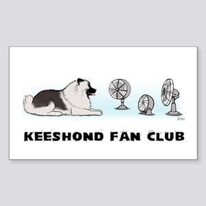 Keeshond Fan Club Rectangle Sticker 10 pk)