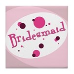 Retro Bridesmaid Tile Coaster