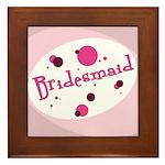 Retro Bridesmaid Framed Tile