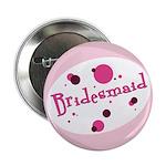 "Retro Bridesmaid 2.25"" Button"