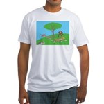 Animals playing Fitted T-Shirt