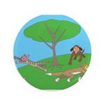 "Animals playing 3.5"" Button (100 pack)"
