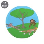 "Animals playing 3.5"" Button (10 pack)"