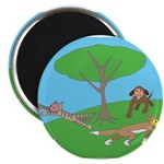 "Animals playing 2.25"" Magnet (100 pack)"