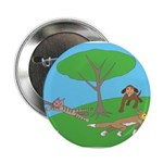 "Animals playing 2.25"" Button (10 pack)"