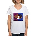 cat-ball Women's V-Neck T-Shirt