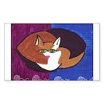 cat-ball Rectangle Sticker
