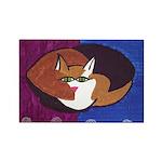 cat-ball Rectangle Magnet (100 pack)