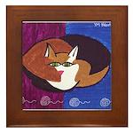 cat-ball Framed Tile