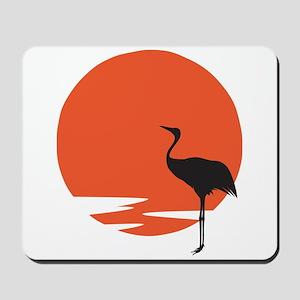 Crane bird Mousepad