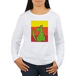 green-dog flirt Women's Long Sleeve T-Shirt