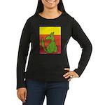 green-dog flirt Women's Long Sleeve Dark T-Shirt
