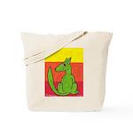 green-dog flirt Tote Bag