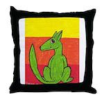 green-dog flirt Throw Pillow