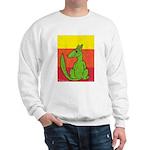 green-dog flirt Sweatshirt