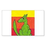 green-dog flirt Rectangle Sticker 50 pk)