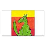 green-dog flirt Rectangle Sticker 10 pk)