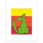 green-dog flirt Small Poster