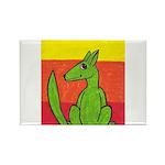 green-dog flirt Rectangle Magnet (100 pack)
