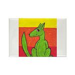 green-dog flirt Rectangle Magnet (10 pack)