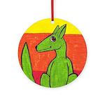 green-dog flirt Ornament (Round)