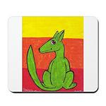 green-dog flirt Mousepad