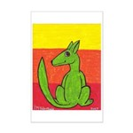 green-dog flirt Mini Poster Print