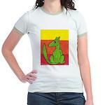 green-dog flirt Jr. Ringer T-Shirt