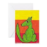 green-dog flirt Greeting Cards (Pk of 10)