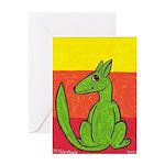green-dog flirt Greeting Card