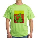 green-dog flirt Green T-Shirt