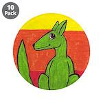 """green-dog flirt 3.5"""" Button (10 pack)"""