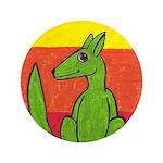 """green-dog flirt 3.5"""" Button"""