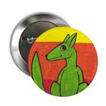 """green-dog flirt 2.25"""" Button (100 pack)"""