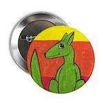 """green-dog flirt 2.25"""" Button"""