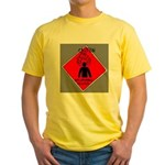Inflammable Temper Yellow T-Shirt