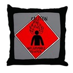 Inflammable Temper Throw Pillow