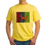 orange dog heel Yellow T-Shirt