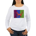 orange dog heel Women's Long Sleeve T-Shirt