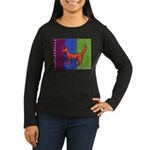 orange dog heel Women's Long Sleeve Dark T-Shirt