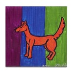 orange dog heel Tile Coaster