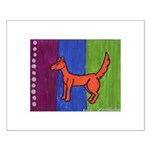 orange dog heel Small Poster